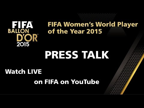REPLAY: Women's World Player of the Year 2015 PRESS TALK