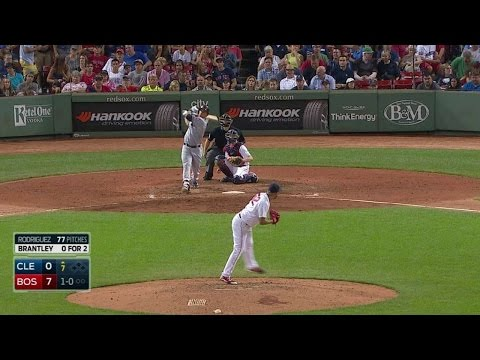 CLE@BOS: Brantley drives a solo home run to right
