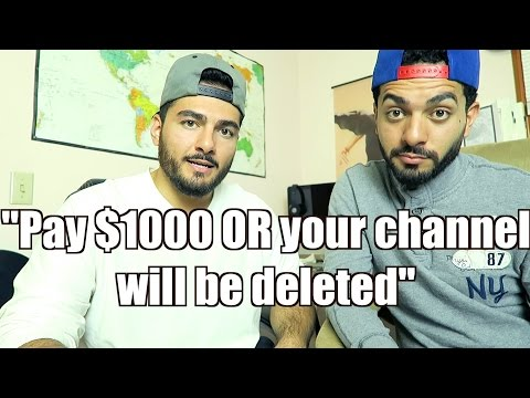 """PAY $1000 OR YOUR CHANNEL WILL BE DELETED""(YOUTUBE HELP!)"