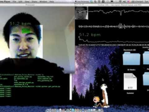 Webcam Pulse Monitor: Measure Heart Beats with Your Face!