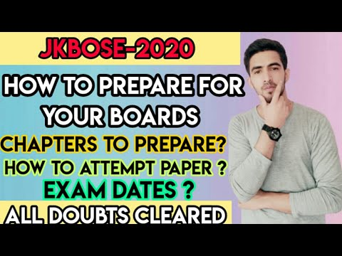 JKBOSE 2020-How to prepare for your Boards | Exam dates | Syllabus Relaxation | Strategy for Boards👍