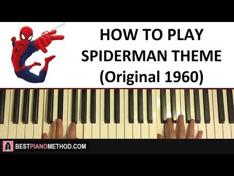 HOW TO PLAY - Spiderman Theme Song (Original 1960's) (Piano Tutorial Lesson)