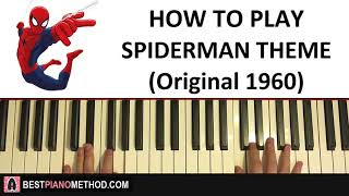 Baixar HOW TO PLAY - Spiderman Theme Song (Original 1960's) (Piano Tutorial Lesson)