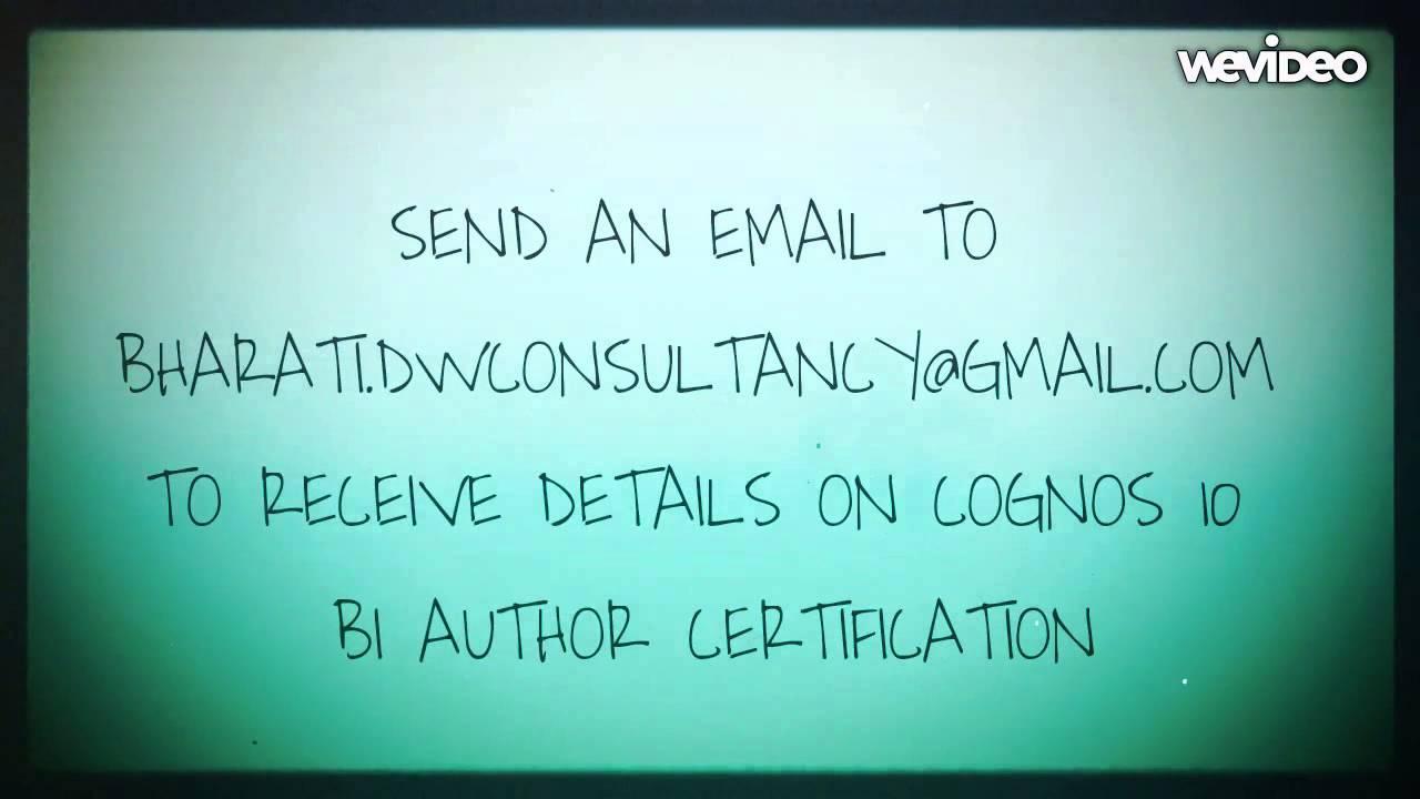 Cognos 10 Bi Professional Author Certification Report Studio Youtube