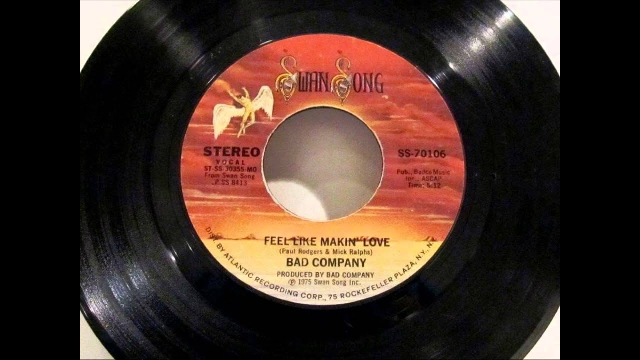 Feel Like Makin Love Bad Company Vinyl RPM YouTube - Vinylboden nassraum