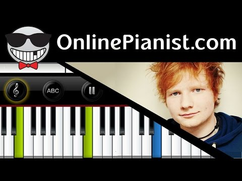 Ed Sheeran - Thinking Out Loud - Piano Tutorial & Sheets (Intermediate ...