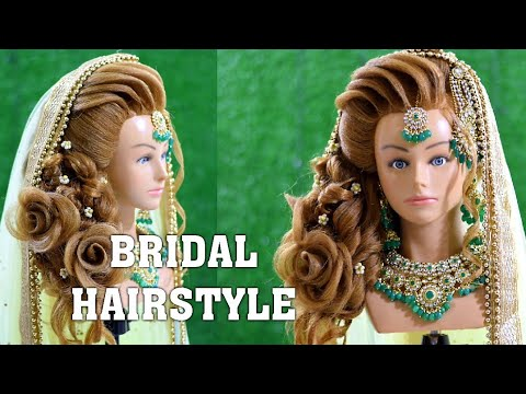perfect-bridal-hairstyle-for-beautiful-girls-||-latest-side-messy-bun-hairstyle-||-rose-hairstyle