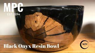 Black Onyx Resin Bowl