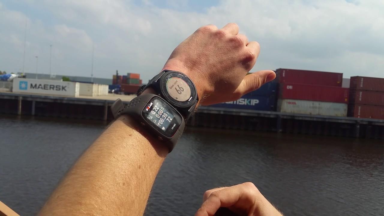 Polar M430 Accuracy Vs Garmin Strap And Polar M600 Youtube