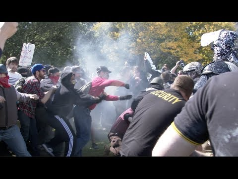 """Clashes as """"Providence Freedom Rally"""" Faces off with Antifa"""