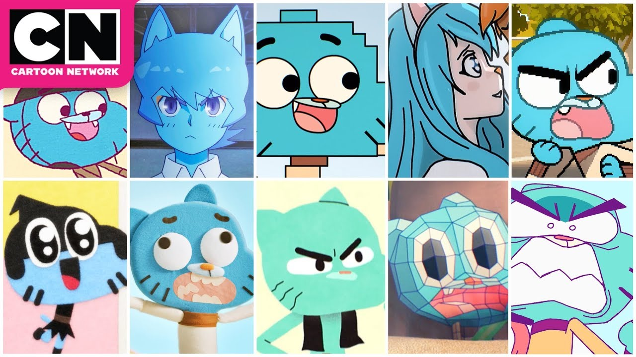 All The Animation Styles The Amazing World Of Gumball Cartoon Network Youtube