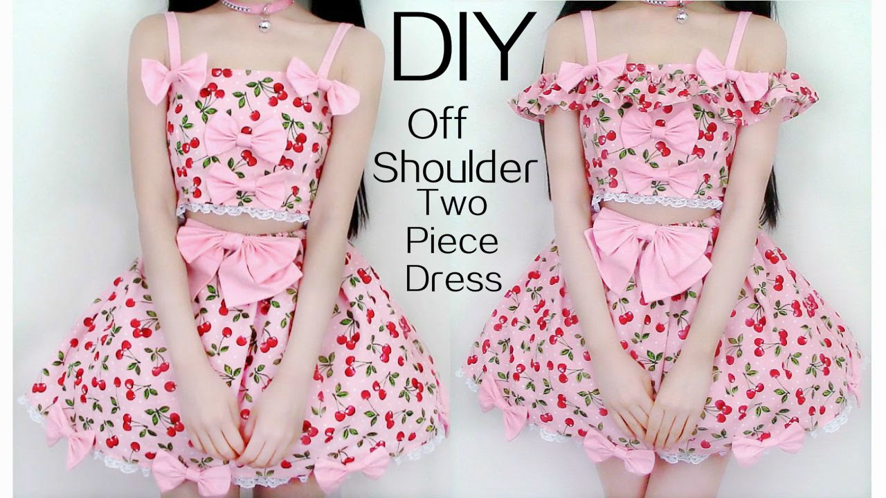 making off shoulder chiffon sleeves