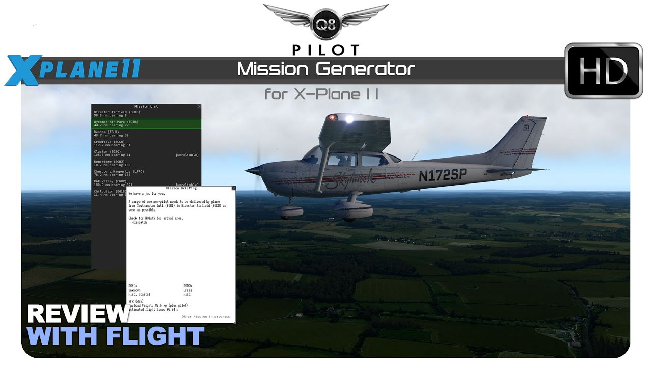 Mission Generator for X-Plane 11 | Review with Flight