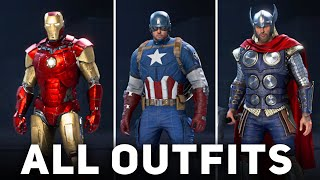 Marvel's Avengers - All 158 Outfits (+ All DLCs) Showcase