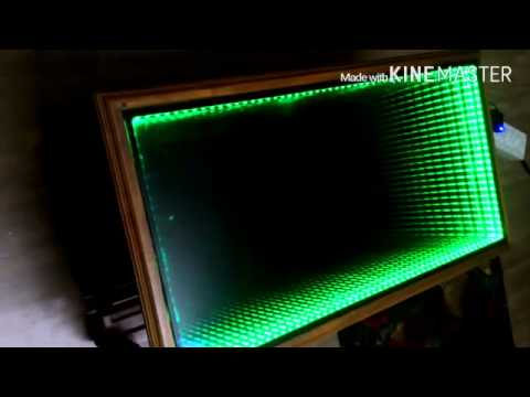 infinity mirror coffee table self made - youtube