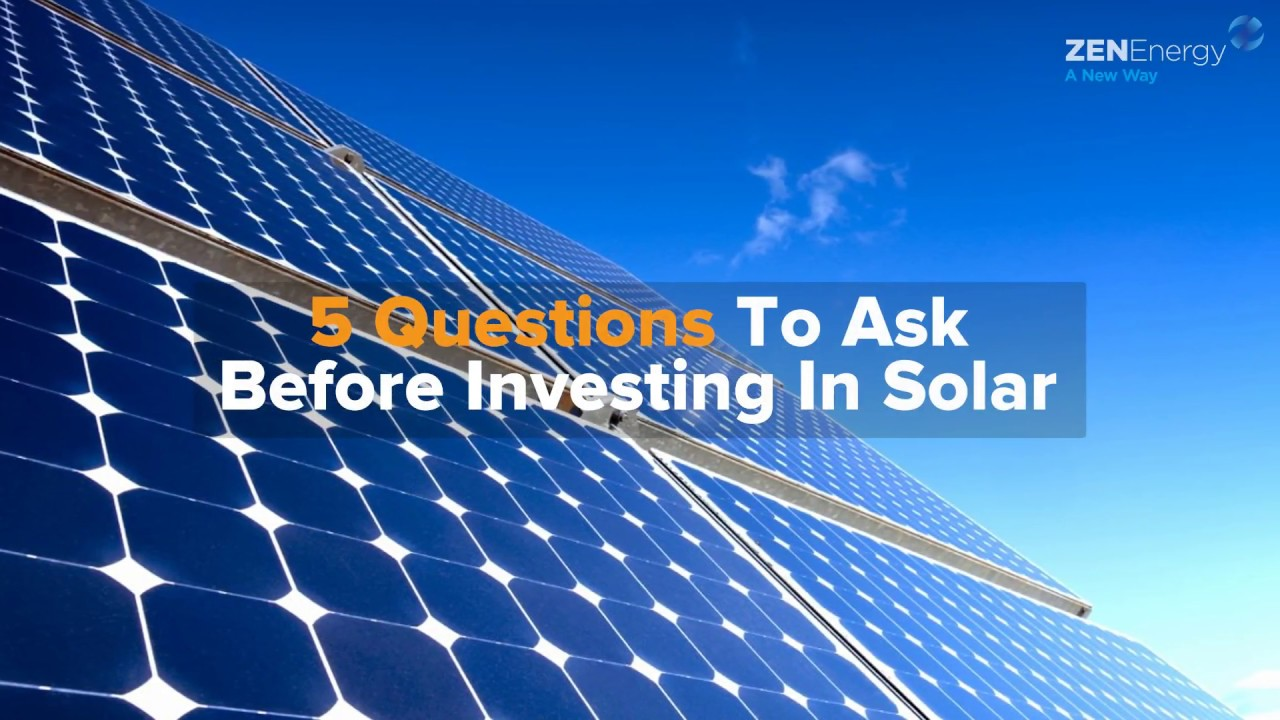 Investing in Solar Panels? Here are 3 key considerations