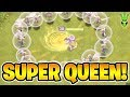 MAX LEVEL QUEEN FINALLY! - SUPER QUEEN FARMING - Let's Play TH9 - Clash of Clans
