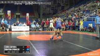 132 Cons. Round 6 - Denton Spencer (Georgia) vs. Chris Deters (Kansas)
