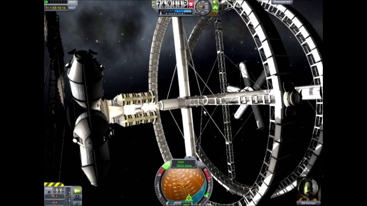 Kerbal Space Program Space Station legit (No mods) - YouTube