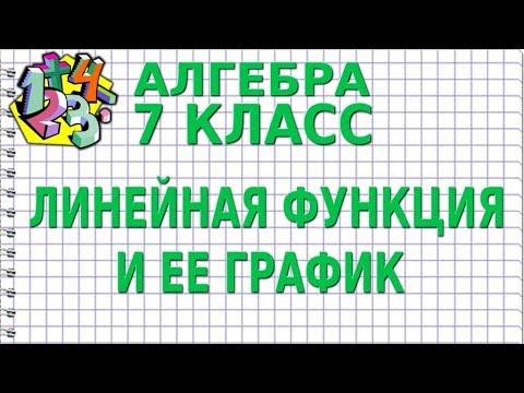 ЛИНЕЙНАЯ ФУНКЦИЯ И ЕЕ ГРАФИК. Видеоурок | АЛГЕБРА 7 класс
