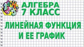 ЛИНЕЙНАЯ ФУНКЦИЯ И ЕЕ ГРАФИК. Видеоурок   АЛГЕБРА 7 класс