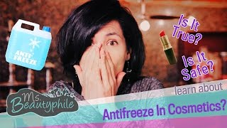 PROPYLENE GLYCOL: ANTIFREEZE in COSMETICS?