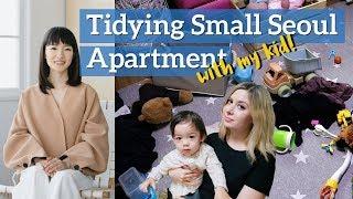 Marie Kondo-ing our apartment with our Toddler! (KonMari Method)