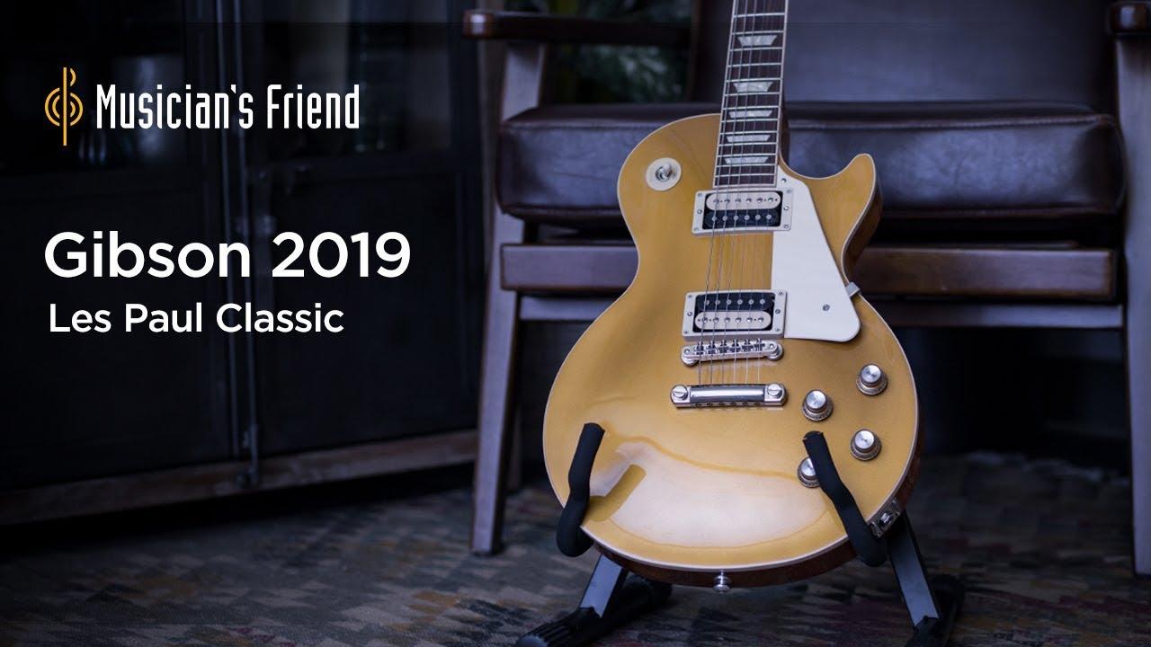 medium resolution of gibson 2019 les paul classic electric guitar demo