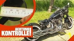 Diverse Verstoße! Aufgemotzte Harley Davidson in Polizeikontrolle   Achtung Kontrolle   Kabel Eins