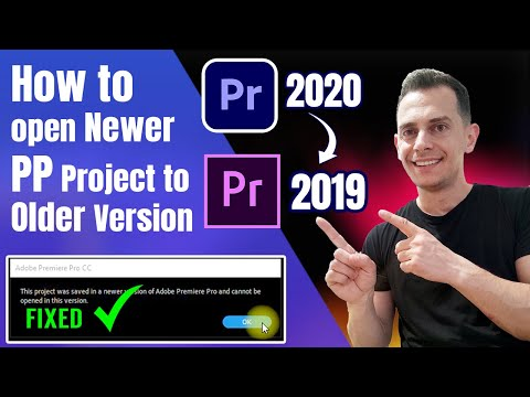 How to open Newer Version of Premiere Project in Older Version - Tutorial 2021