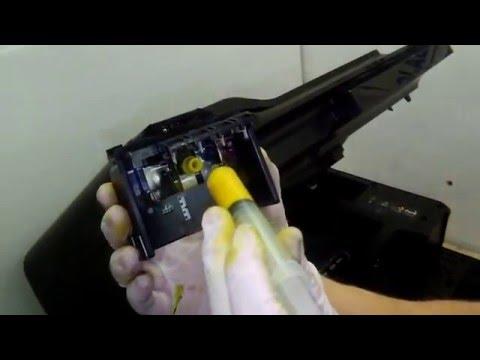 Cómo sacar y limpiar un cabezal de HP7612