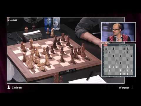 Magnus Carlsen Vs Dennis Wagner - Round 2 World Rapid Championship 2015