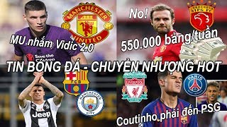 Tin bóng đá|Chuyển nhượng 2019 12/07|MU nhắm mua Vidic 2.0,Mata hi sinh,bom tấn Lukaku sắp hoàn tất