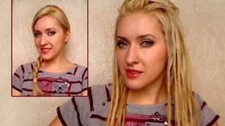 How to do faux dreads hairstyle for long hair Easy temporary fake dreadlocks