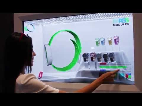 "Mass Modules: Interactive Color Changing Program + 46"" Transparent Display Show - RAE14"