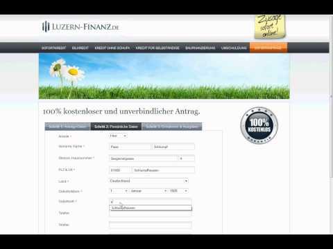 Luzern Finanz GmbH: Kredite ohne Schufa auch für Schlümpfe