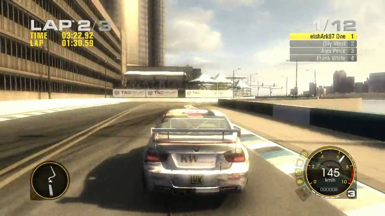race driver grid bmw gameplay 720p hd pc xbox 360 ps3 youtube