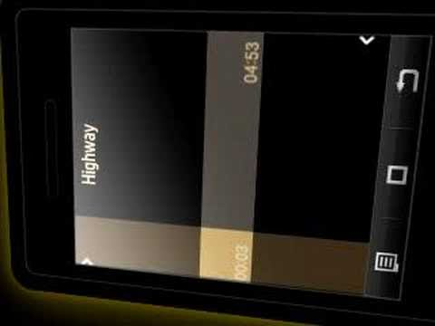 samsung P520 armani: video tutorial. music player