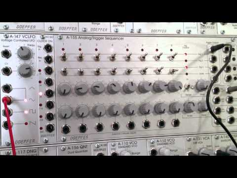 Doepfer A155 Sequencer and 154 Sequential Controller Modulation Part One