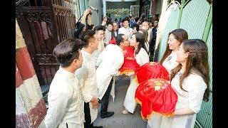Đám cưới Vũ Ngọc Ánh - Anh Tài: Dàn phụ dâu phụ rể nổi tiếng siêu lầy lội tại buổi rước dâu