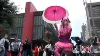 Video  Millions flood Brazil for Sao Paulo gay parade   Telegraph 3