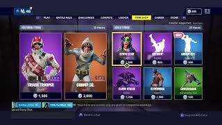 NEW Fortnite iteam shop!!! Can we get 100 subs!?