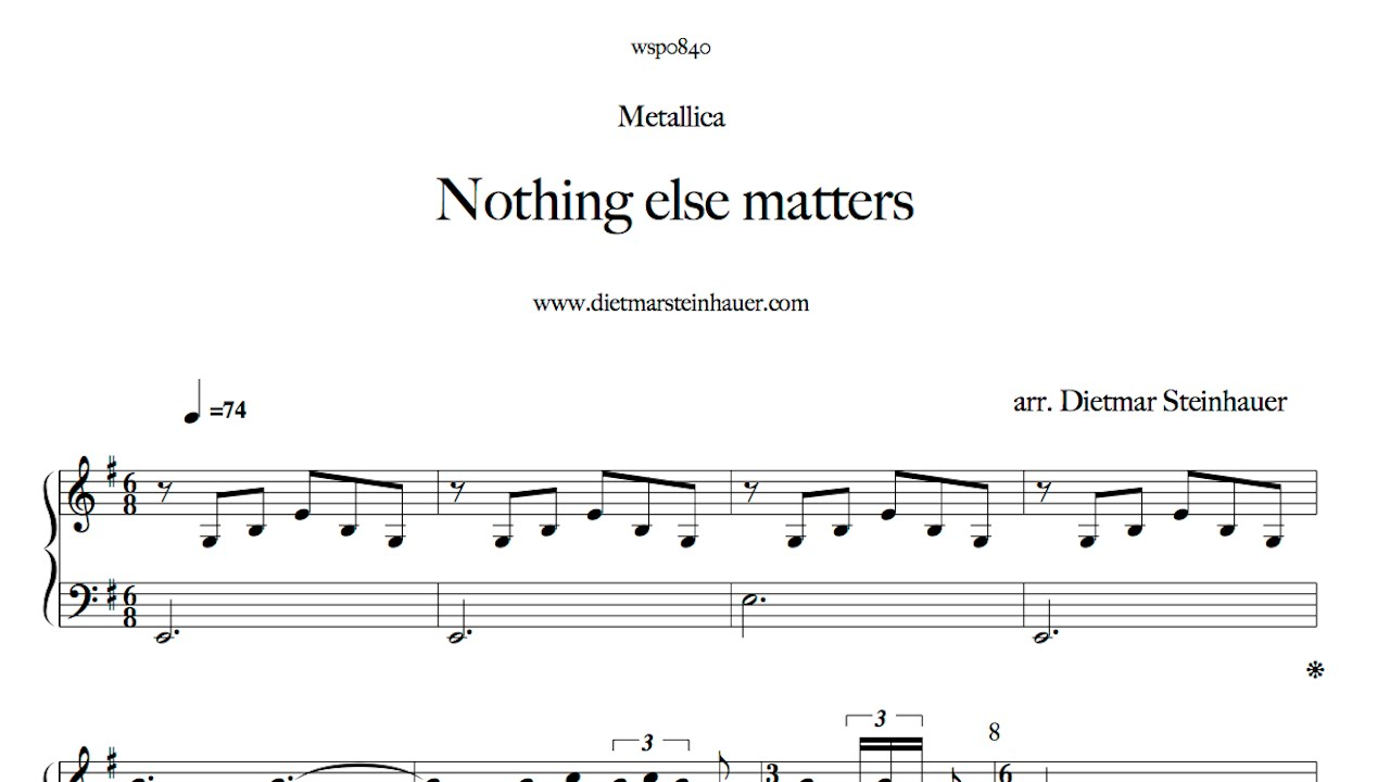 Nothing else matters youtube for Dietmar steinhauer