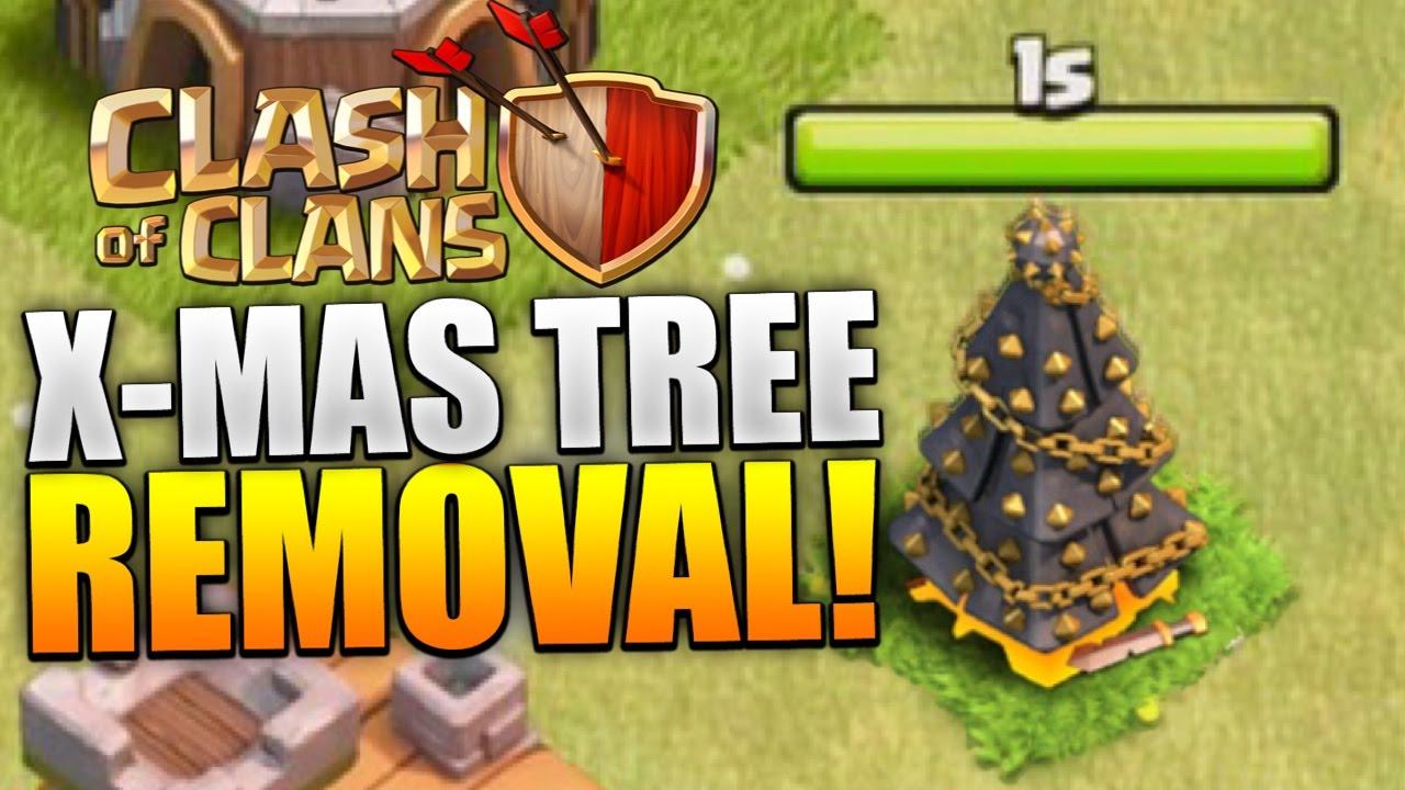 Clash of Clans - REMOVING CHRISTMAS TREE 2015! X-MAS TREE REMOVAL ...