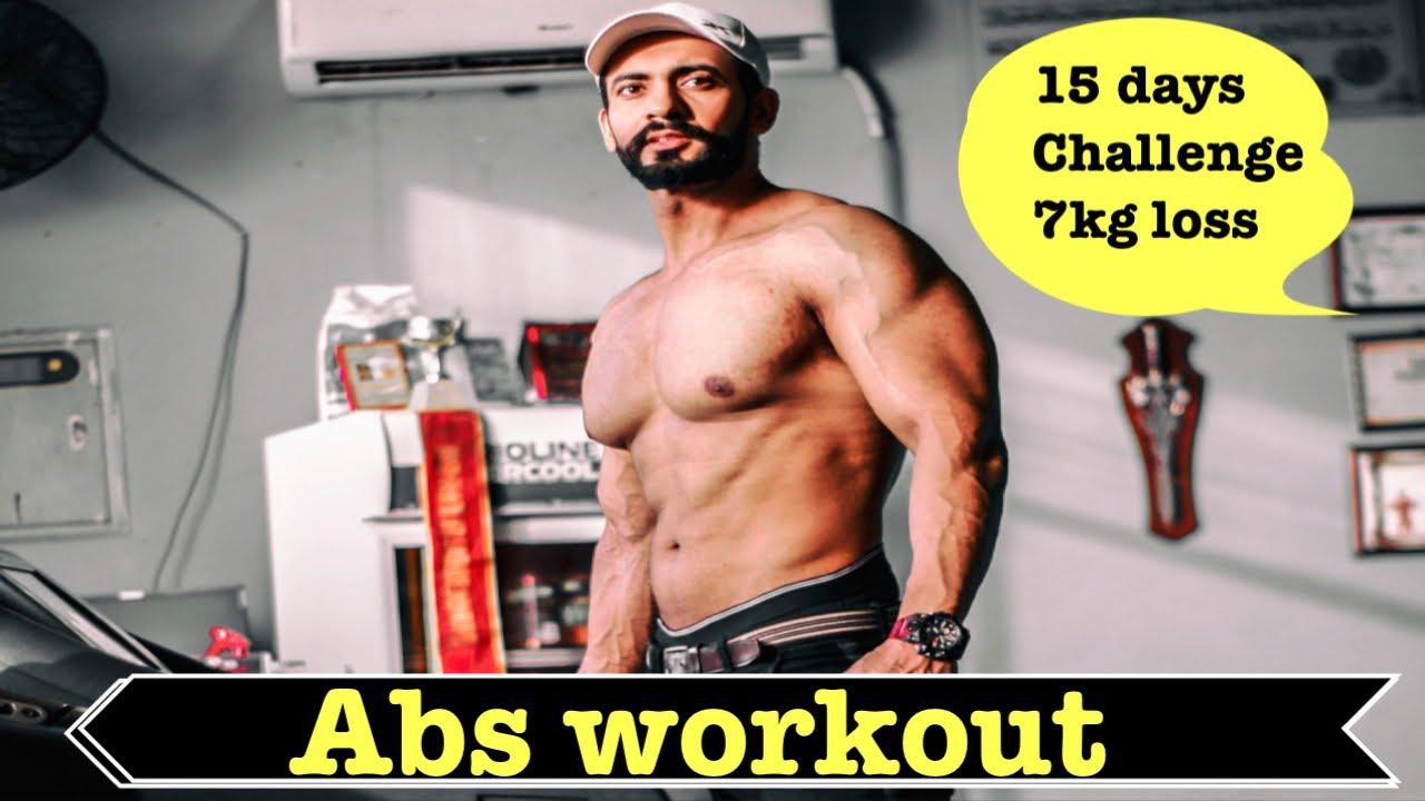15 days 7 kg weight loss challenge abs workout 💯#asifgujjar #musclehub #gym #loss #workout #power