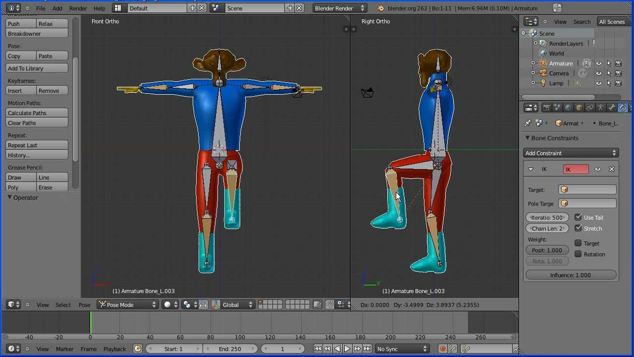 Blender Character Modeling And Rigging : Blender tutorial making a low poly model of