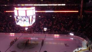 Bridgestone Arena fans sing O Canada