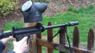 Paintball Machine Gun in action