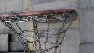 баскетбольная сеть из металлических цепей