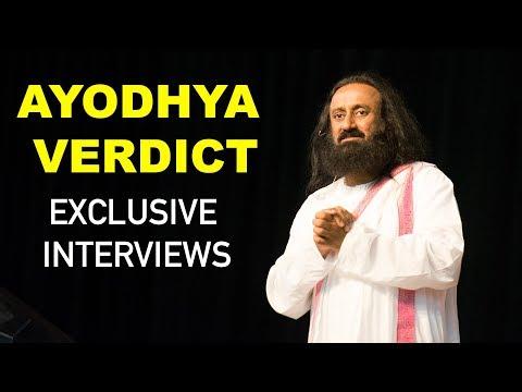 Ayodhya Verdict   Sri Sri Ravi Shankar's Exclusive Interviews To News Channels